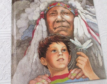 Brother Eagle, Sister Sky by Susan Jeffers - Vintage Childrens Book Illustrated Native American 1991