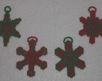 Beaded Snowflakes Ornaments #48 Kaleidescopes Gift Party Favors Wedding Christmas Stocking Stuffers Kids Adults