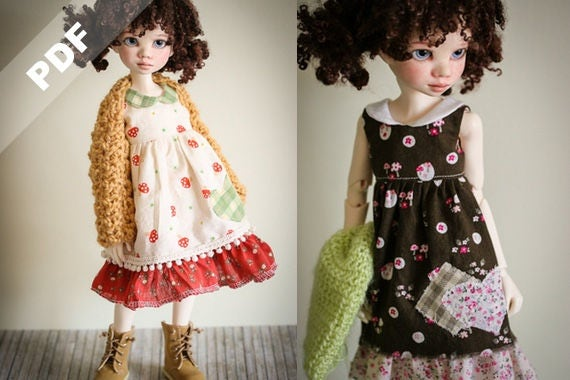 """PDF Pattern: """"Almost Spring"""" for MSD 1/4 Ball-Jointed Dolls, Forever Virginia Kid Briar"""