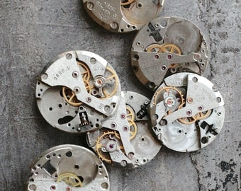 Vintage watch movements -- set of 6 -- D2