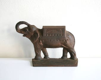 Cast Iron Elephant Caravan Doorstop