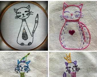 all kinds of cats embroidery pattern pdf
