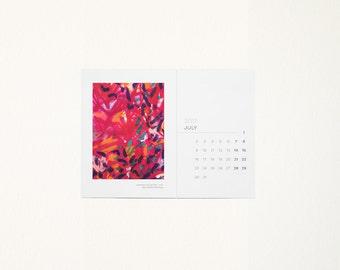 2017 ART CALENDAR - 5x7 Calendar, Mini Art Calendar, Art Notecards, 2017 Calendar, Gift Calendar, January,
