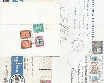 5 ITALIAN ENVELOPE - Vintage DOCUMENTS from Italy - Ephemera Paper