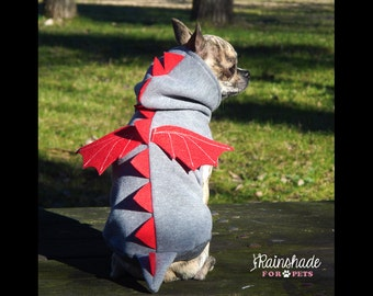 Dragon Costume for pets. Dogs clothes. Cool dragon sweater. Tg. XS-S-M-L