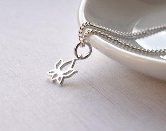 Delicate Silver Bracelet, Sterling Silver, Lotus Flower Bracelet, Birthday Gift, Silver Jewellery UK