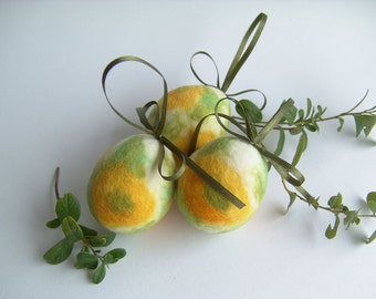Easter Eggs - Hanging Eggs - Spring Egg Ornament - Floral ornament