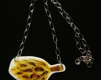 Desiccated Magnolia Necklace