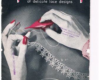 Tatting A Fascinating Book Of Delicate Lace Designs/ Book No.1 by Paragon