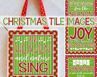 Christmas Tile Art, Christmas Gift Ideas, Christmas Printables, Christmas Sayings, Christian ...