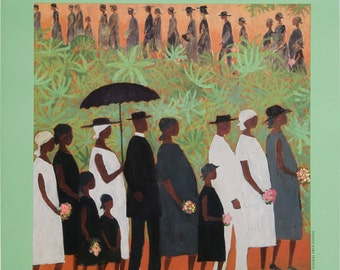 Funeral Procession by Ellis Wilson, Turning Point: The Harlem Renaissance Exhibition Poster