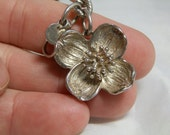 Vintage Tiffany Sterling Silver Dogwood Flower Bracelet 925 Chain Link GallivantsVintage