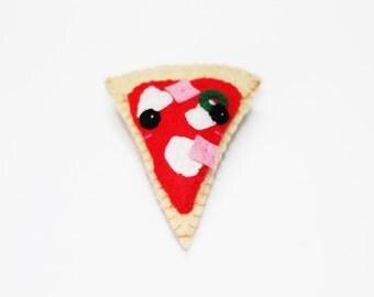 Brooch Pizza Cute Felt