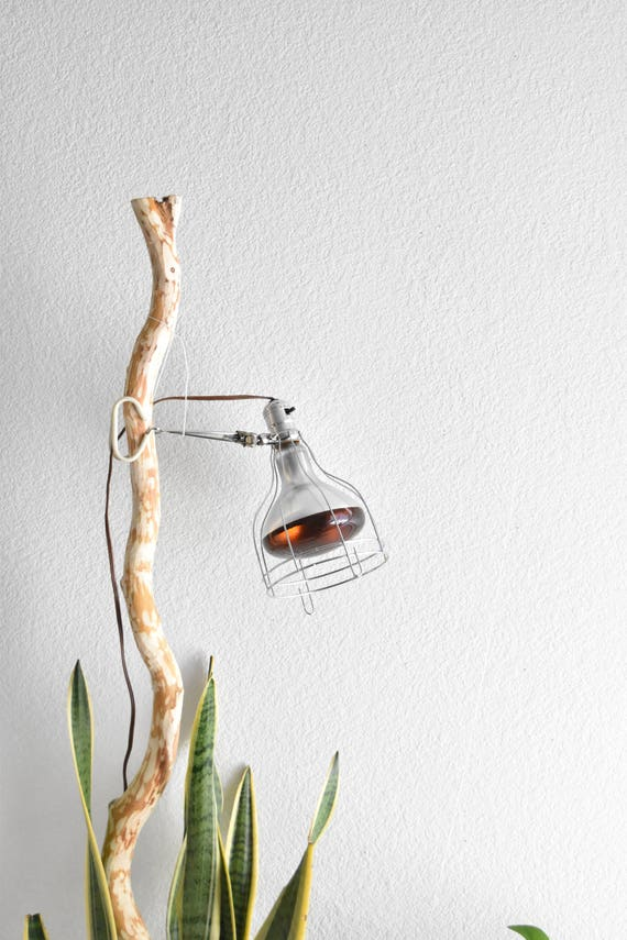 mid century metal industrial cage shop garage light / adjustable heating clamp lamp