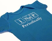 Periodically Inspired I NAP PERIODICALLY Periodic Table Onesie -  New Baby Bodysuit For Periodic Table Fans (Cobalt Blue)