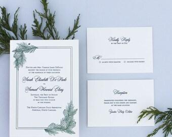 SAMPLE - Pine Wedding Invitation