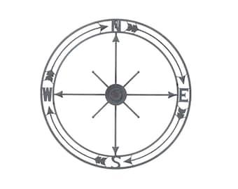 "36"" Nautical Compass Wall Art Nautical Decor Arrow Wall Decor Nautical Wall Art Nautical Metal Compass Decor Metal Wall Compass Compass Rose"
