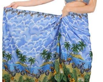 La Leela Sarong Bathing Suit Swimsuit Swimwear Beach Bikini Cover up Printed Pareo wrap - 124776