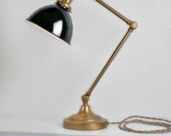 Vintage Industrial Desk Lamp - Victorian Table Lamp Task Light - Steampunk - Art Deco
