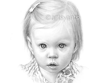 Pencil Portrait Drawings - High Quality Portraits Charcoal Sketch Drawing from your photo - Realistic
