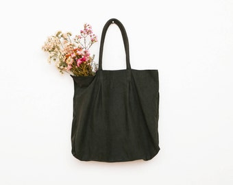 The Forrest Green Leather Berlin Tote Bag in Suede Nubuck | Oversized Leather Tote | Shoulder Bag | Minimalist Leather Handbag | Pine Green
