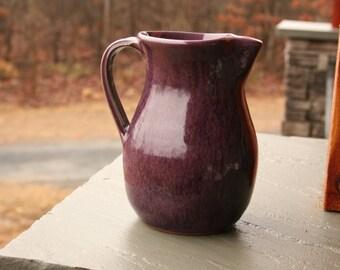 Pottery Pitcher Purple Glaze NC Pottery