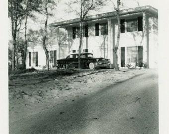 "Vintage Photo ""Home Sweet Home"" Snapshot Antique Photo Old Black & White Photograph Found Paper Ephemera Vernacular - 144"