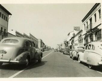 "Vintage Photo ""Santa Barbara Streets"" Snapshot Antique Photo Old Black & White Photograph Found Paper Ephemera Vernacular - 122"