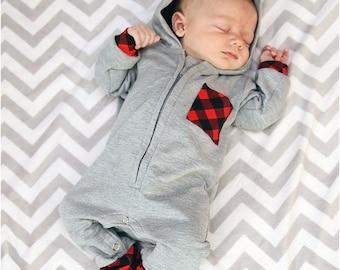 Zipster Romper Sewing Pattern: Hooded Romper Pattern, Baby Romper Pattern