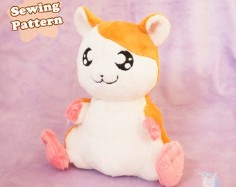 Kawaii Plush Sewing Pattern Hamster Plushie