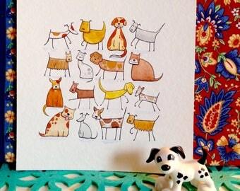 16 Dogs - original artwork