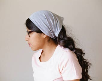 Heather Gray Short Stretch Knit Headcovering | Women's Headcovering Veil