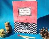 A Damn Tiny Zine - Twin Peaks Art Mini-Zine, Log Lady, David Lynch