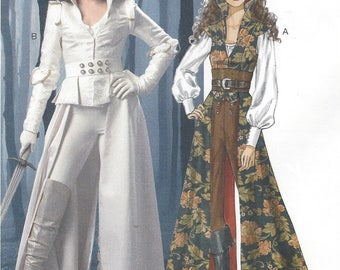 Womens Fantasy Coat, Top, Corset & Belt Anime Costumes McCalls Sewing Pattern M6819 Size 14 16 18 20 22 Bust 36 38 40 42 44 UnCut