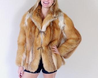 vtg 70s real COYOTE FUR shaggy COAT boho Small avant garde jacket outerwear boho hippie tan