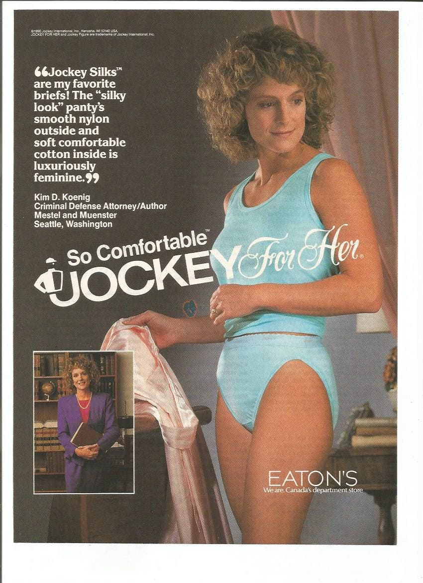 1990 Advertisement Jockey For Her Underwear Bra Panties Silk