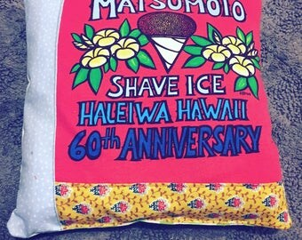 Tooth Fairy Pillow - Matsumoto Shave Ice - Made from an Upcycled Tshirt and Coordinating Fabrics