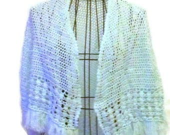 Crochet Cape for Girl Open Work Lightweight Baby Blue Handmade Baby Blue Pastel Color Easter Color Ready to Ship