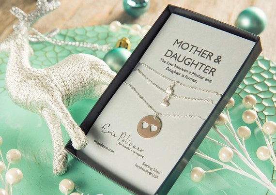 Mom daughter necklace mother daughter jewelry set mother of for Christmas gift ideas for mom from daughter