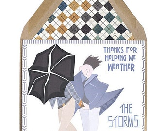 Weather The Storms - Thank You, Support, Thinking of You, Card, Boy Met Boy, Gay, Same Love Card