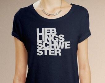 Lieblingsschwester - Fair Trade T-Shirt Damen