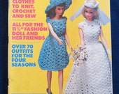 Vintage Pattern Book - Vol. 1 McCall's Doll Fashions, 1976 - 64 Pages - Knit, Crochet, Sewing, Weaving, Fashion Doll Patterns - Item 4791