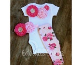 Floral Newborn Girl Take Home Outfit, Babys 1st Valentine, Babys 1st Easter, Hospital Take Home Outfit, Coming Home Outfit, New Baby Girl