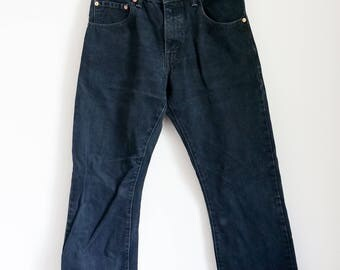 LEVIS 517 black jeans w31, measures w28