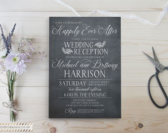 Printable We Eloped - Reception Only - We Eloped Card - Married Announcement - We Got Married - Reception Invitation - Wedding Invitations