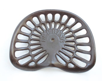 Antique Tractor seat / Deering Cast Iron Tractor Seat / Farm Salvage / Farn Equipment / John Deere / Farmall / International IH / Deering