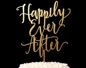 Wedding Cake Topper - Happily Ever After - Blissful Collection