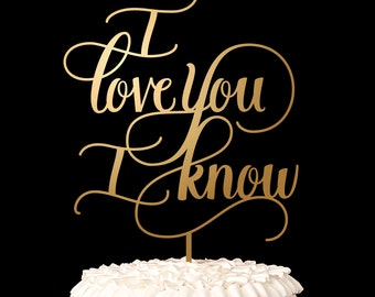 Wedding Cake Topper - I love you I know - Star Wars Cake Topper - Classic Collection