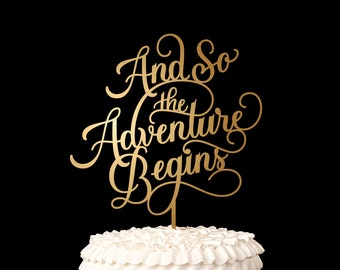 Wedding Cake Topper - And so the adventure begins - Classic Collection