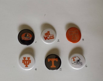 """Tennessee Volunteers Pin Back Buttons 1.25"""""""